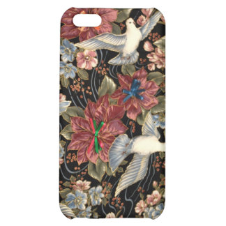 Decorative Flowers And Doves Case For iPhone 5C