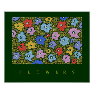 decorative flowers for walls poster