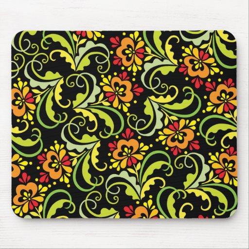 decorative flowers mouse pad