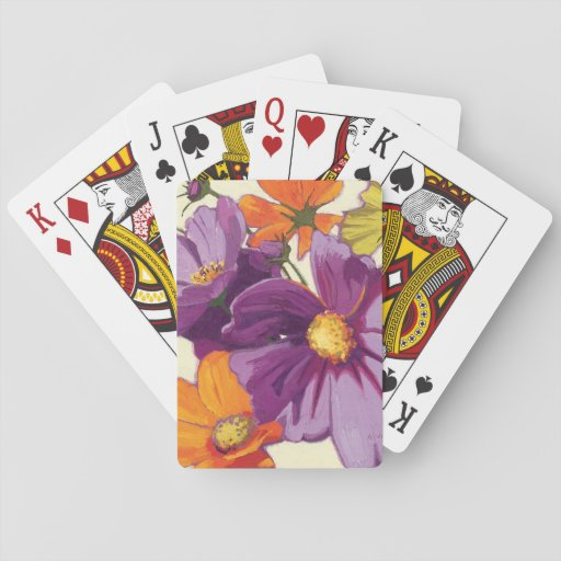 Decorative Flowers Playing Cards