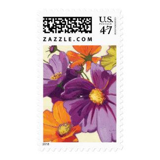Decorative Flowers Postage Stamp