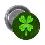 Decorative Four Leaf Clover 2 Inch Round Button