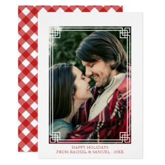 Decorative Frame - Happy Holidays Photo Card