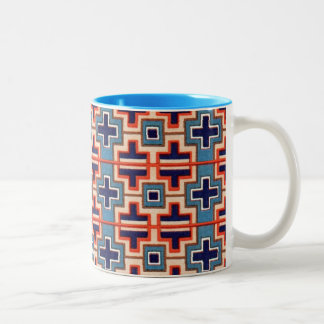Decorative French Moyen Age Medieval Design Two-Tone Coffee Mug
