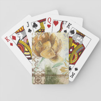 Decorative Fresco Design with Globe Flower Card Deck