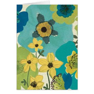 Decorative Garden Flowers Greeting Cards