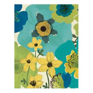 Decorative Garden Flowers Postcard