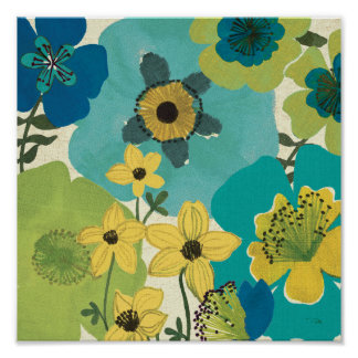 Decorative Garden Flowers Poster