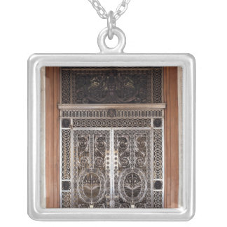 Decorative gates of Galerie d'Apollon in Silver Plated Necklace
