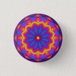 Decorative Geometric Flower Medallion Button