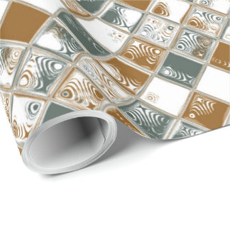 Decorative Geometric Tiles Mosaic Pattern Wrapping Paper