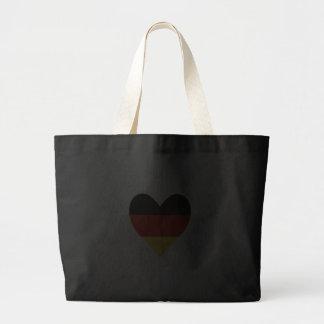 Decorative German Heart Tote Bags