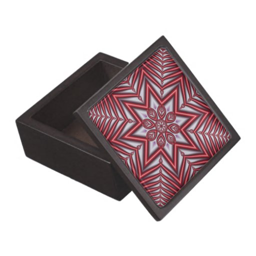 decorative gift box with red shining star premium gift. Black Bedroom Furniture Sets. Home Design Ideas