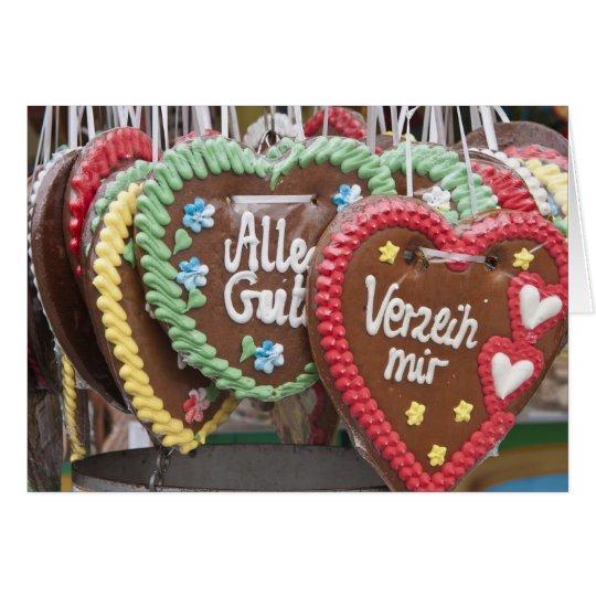 Decorative gingerbread cookies card