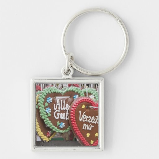 Decorative gingerbread cookies key chain