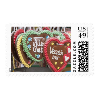 Decorative gingerbread cookies postage stamps