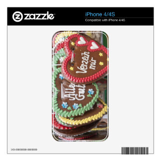 Decorative gingerbread cookies skin for iPhone 4S