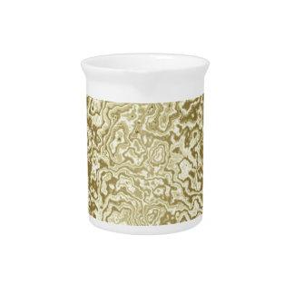 Decorative Gold Drink Pitcher