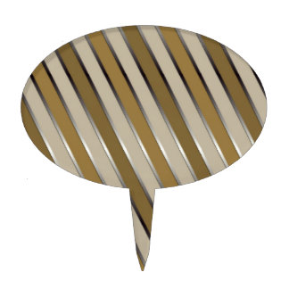 Decorative Gold Stripes Cake Topper
