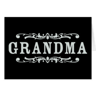 Decorative Grandma Card