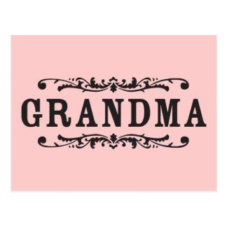 Decorative Grandma Postcard