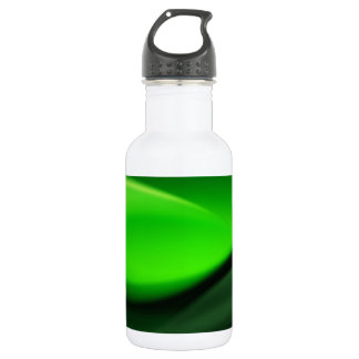 Decorative Green Abstract Waves Digital Art 18oz Water Bottle