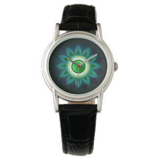 Decorative Green Floral Jewelry Women's Watch