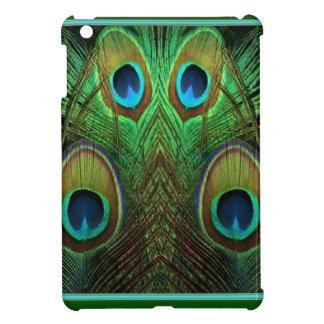 Decorative Green Peacock Feather Eyes iPad Mini Case