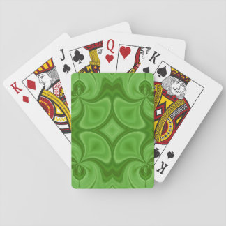 Decorative Green wood pattern Poker Cards