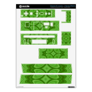 Decorative Green wood pattern Skins For Nintendo Wii