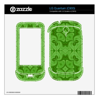 Decorative Green wood pattern Skin For The LG Quantum