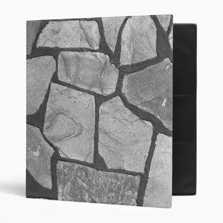 Decorative Grey Stone Paving Look 3 Ring Binder