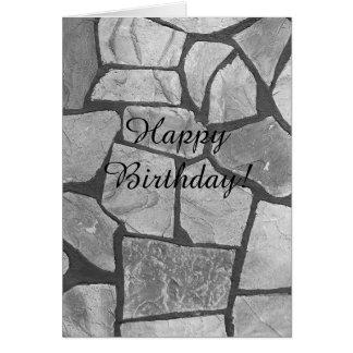 Decorative Grey Stone Paving Look Card