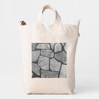 Decorative Grey Stone Paving Look Duck Bag