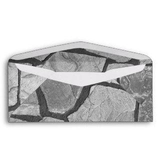 Decorative Grey Stone Paving Look Envelope
