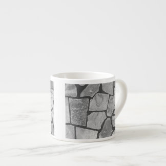 Decorative Grey Stone Paving Look Espresso Cup