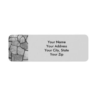 Decorative Grey Stone Paving Look Label