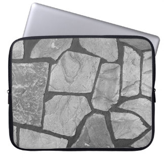 Decorative Grey Stone Paving Look Laptop Computer Sleeve