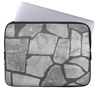 Decorative Grey Stone Paving Look Computer Sleeve