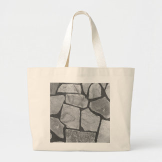 Decorative Grey Stone Paving Look Large Tote Bag
