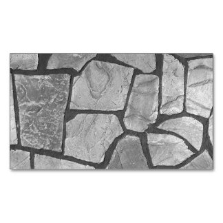 Decorative Grey Stone Paving Look Magnetic Business Card