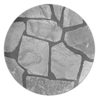 Decorative Grey Stone Paving Look Melamine Plate