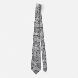 Decorative Grey Stone Paving Look Neck Tie