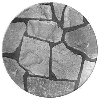 Decorative Grey Stone Paving Look Plate