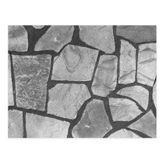 Decorative Grey Stone Paving Look Postcard