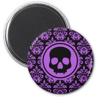 Decorative Halloween skull 2 Inch Round Magnet