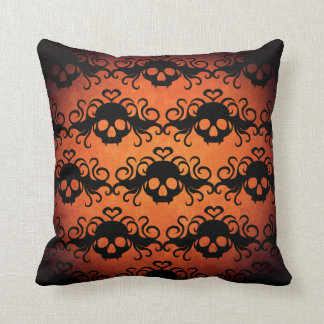 Decorative Halloween skull pattern Throw Pillow