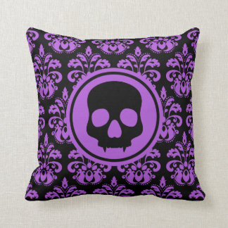 Decorative Halloween skull Throw Pillow