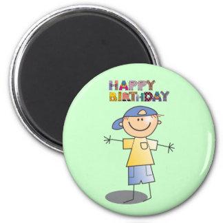 Decorative Happy Birthday for Little Boy 2 Inch Round Magnet