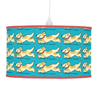 DECORATIVE HAPPY DOGS RUNNING CEILING LIGHT CEILING LAMP
